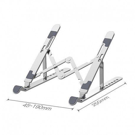 "Laptop Stand, 7-Angles Adjustable,Aluminum-Sliver, Compatible with all Tablets/Laptops 10""-17.3"", Supports up to 88 lbs"